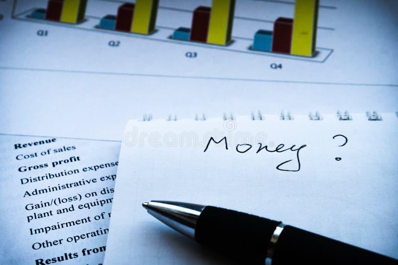 企业构成 财务分析-收入报告,经营计划 免版税库存图片