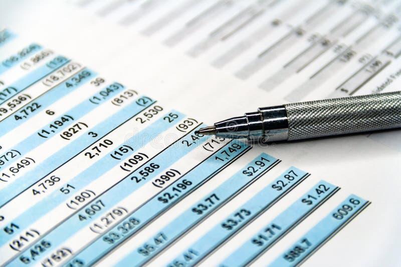 企业构成 财务分析-收入报告 库存图片