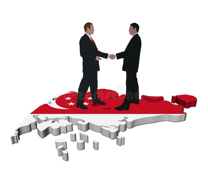 企业标志映射会议新加坡 皇族释放例证