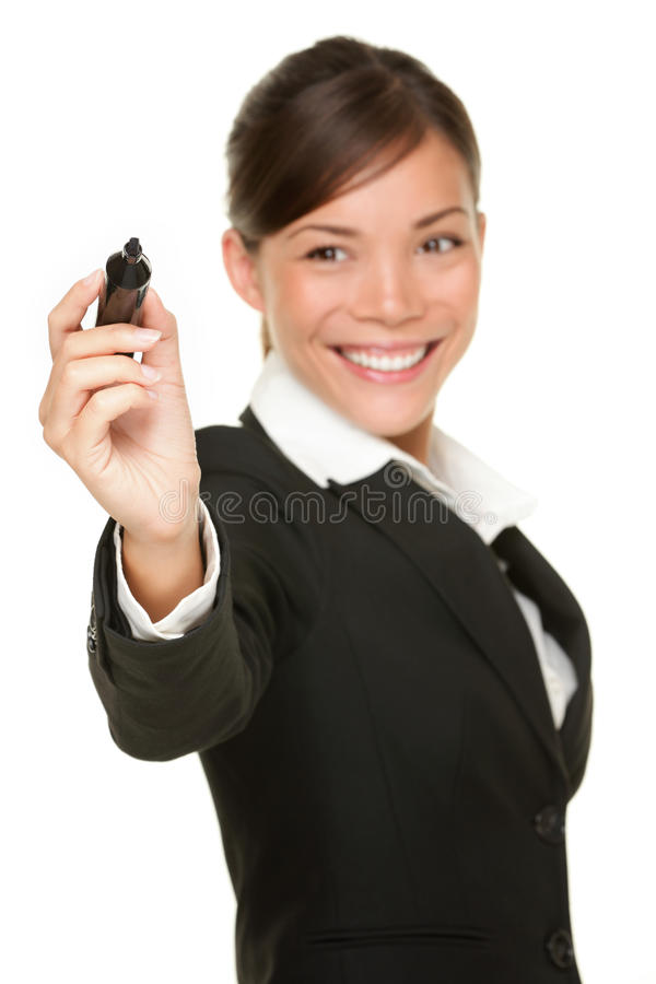 企业标记妇女文字 库存照片