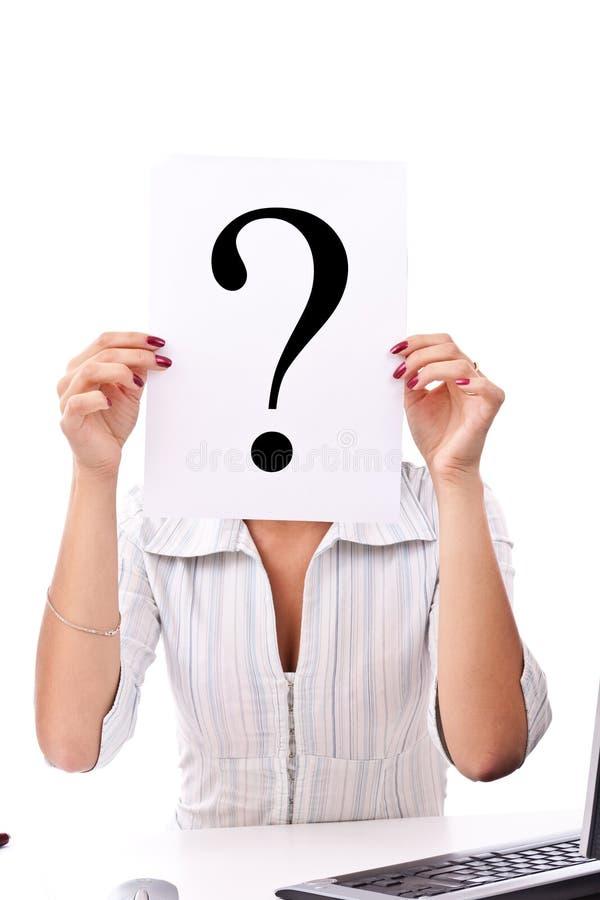 企业标记问题妇女 免版税库存图片