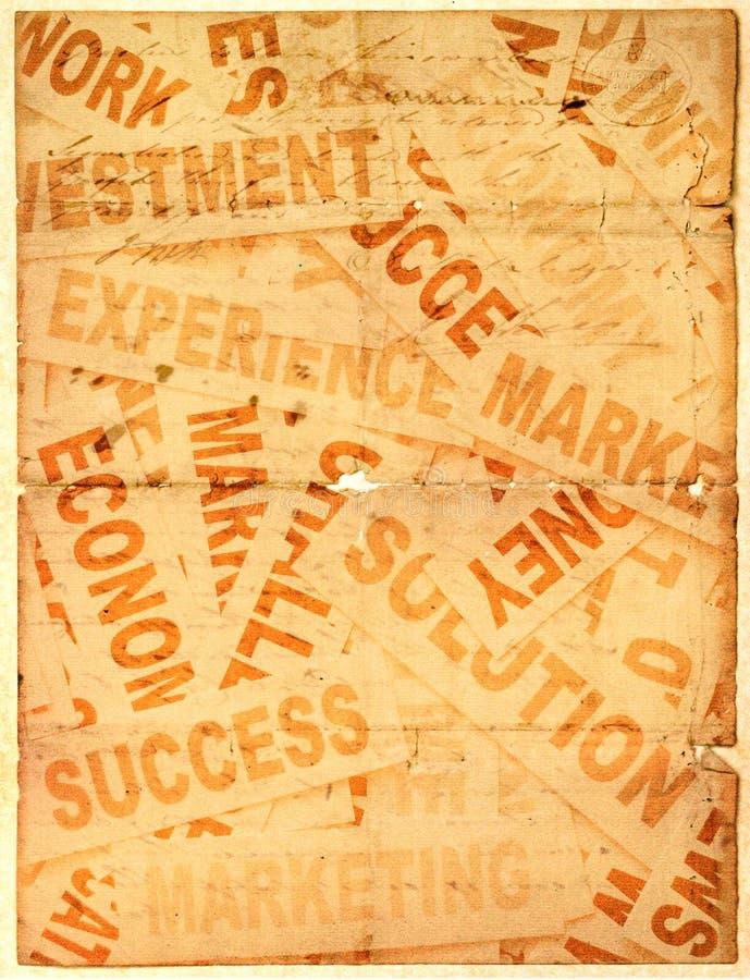 企业标题新的老纸张 免版税库存图片