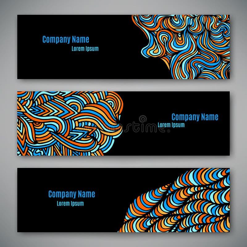 企业样式模板 库存例证