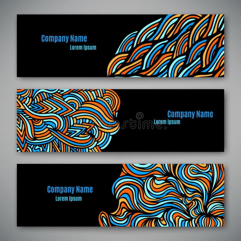企业样式模板 向量例证