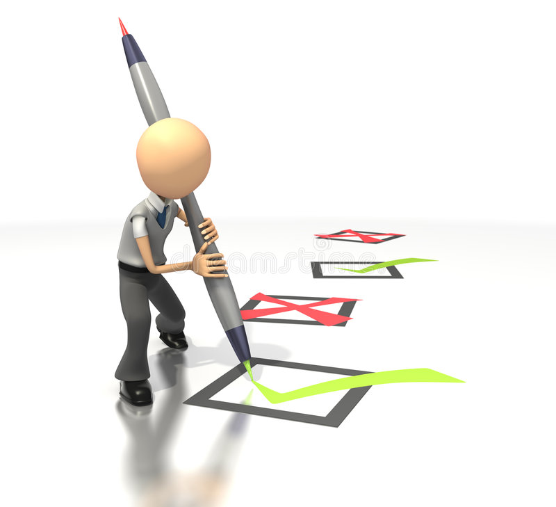 企业核对清单形象 向量例证