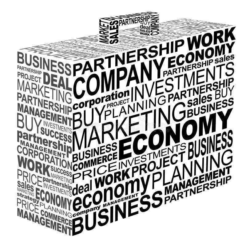 企业案件印刷术 库存例证