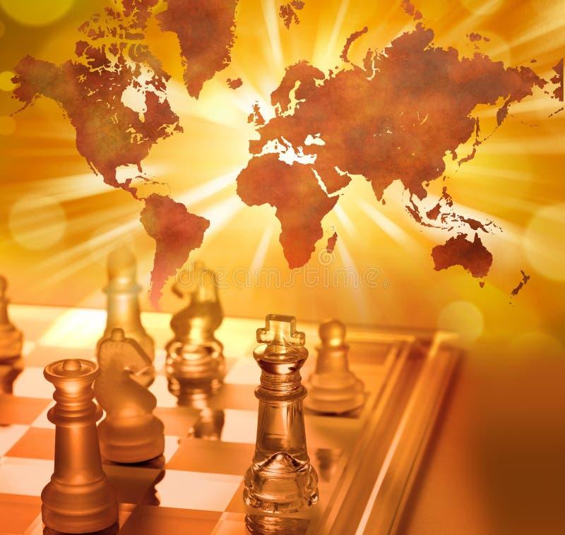 企业棋全球方法世界 免版税库存图片