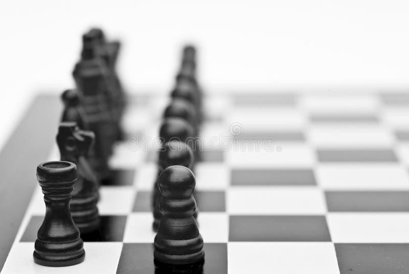 企业棋概念比赛方法 免版税库存图片