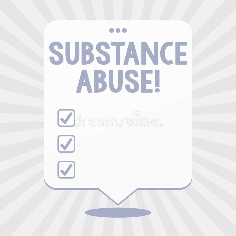 写文本滥用毒品的词 企业概念为用户在数额空白消耗对药物的被仿造的使用 库存例证