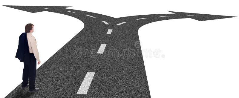 企业概念交叉路决策 免版税库存照片