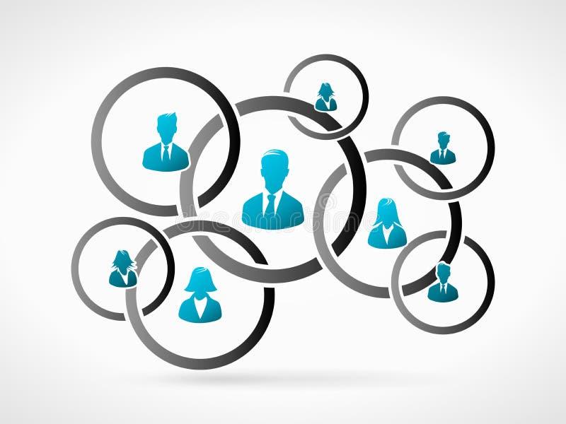 企业概念交往查出的whtie 库存例证