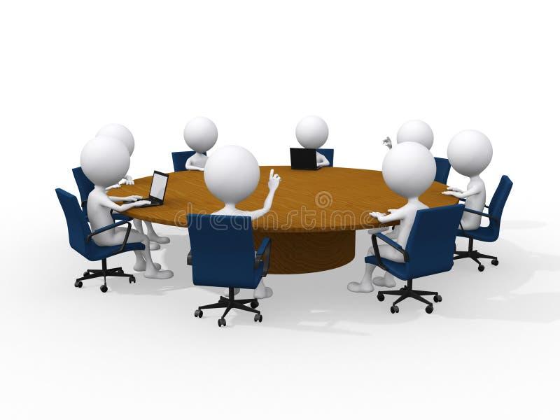 企业概念会议 皇族释放例证