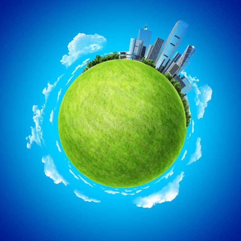 企业概念全球化微型行星 库存例证