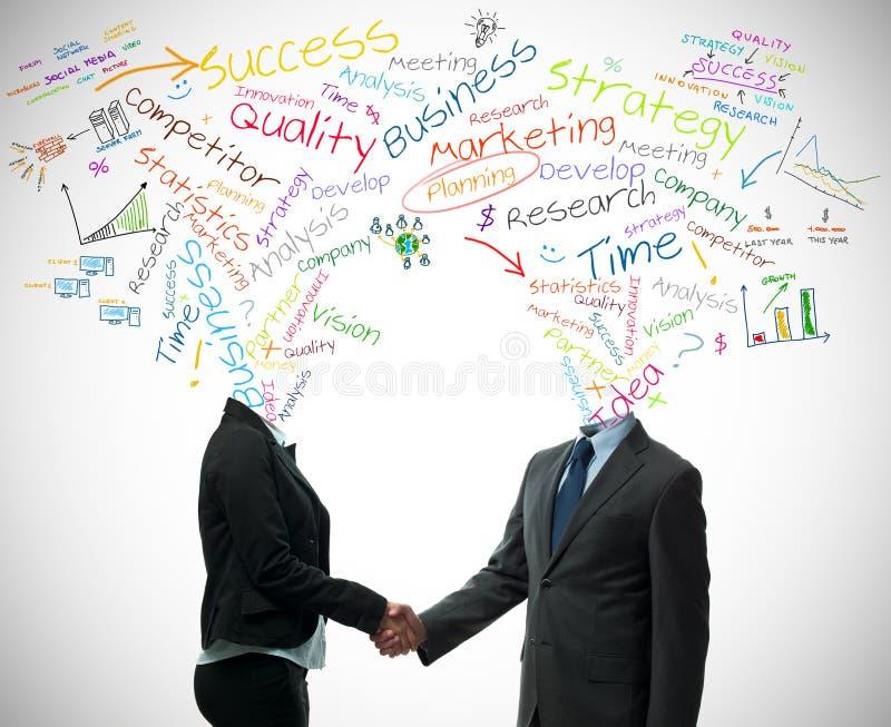 企业概念合作伙伴 免版税库存照片