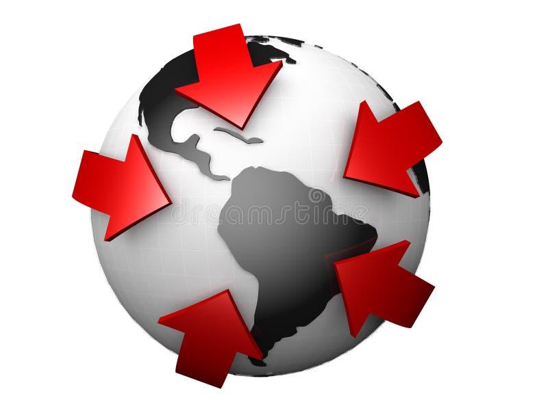 企业概念国际全世界 库存例证