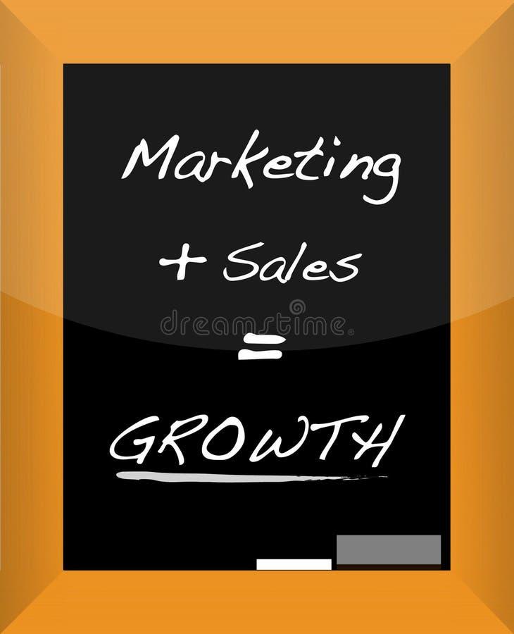 企业概念增长计划 向量例证