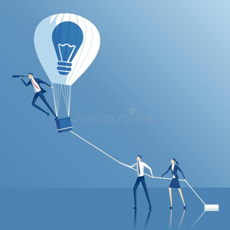 企业概念想法和配合 向量例证