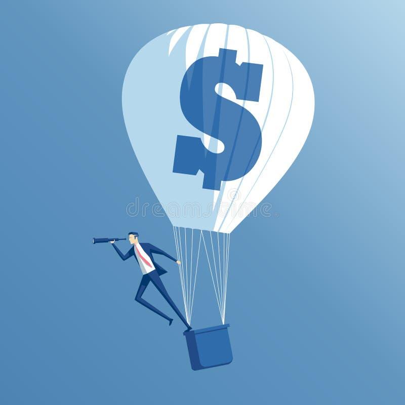 企业概念投资和查寻 库存例证