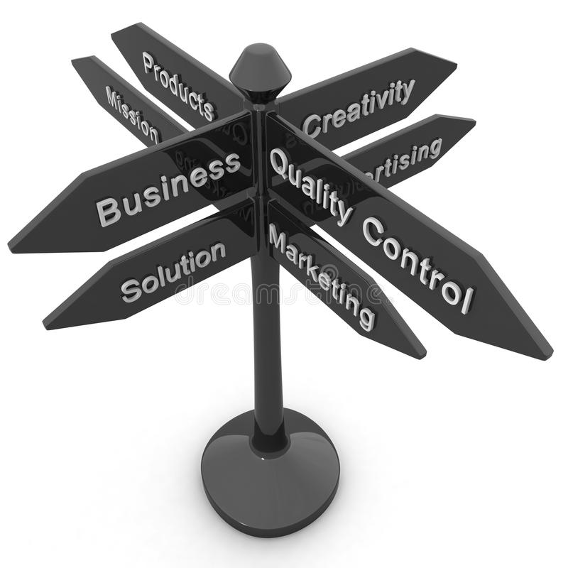 企业概念方向目的 向量例证