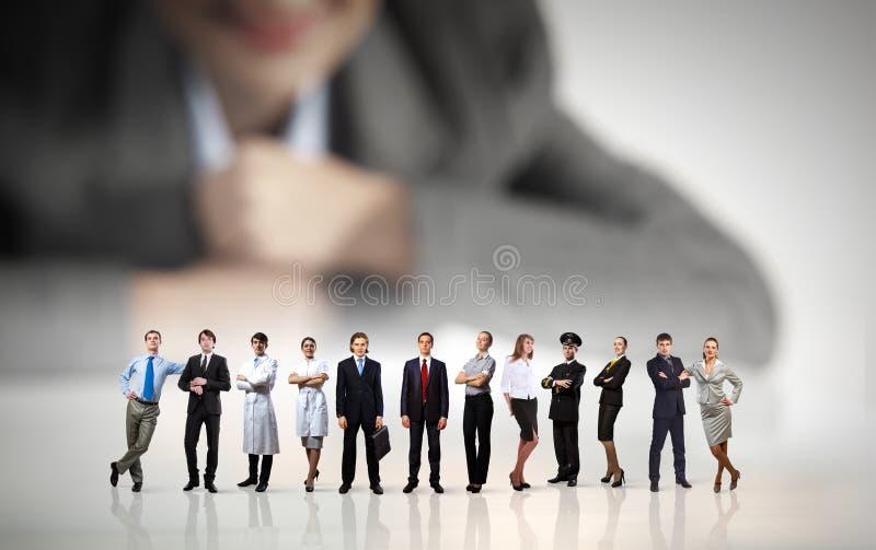 企业概念查出的小组白色 免版税图库摄影