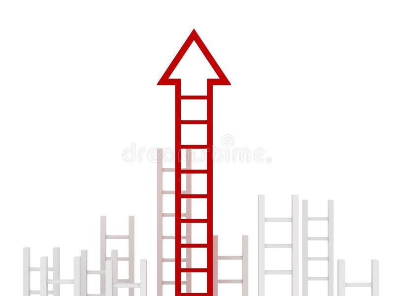 企业概念梯子成功 向量例证