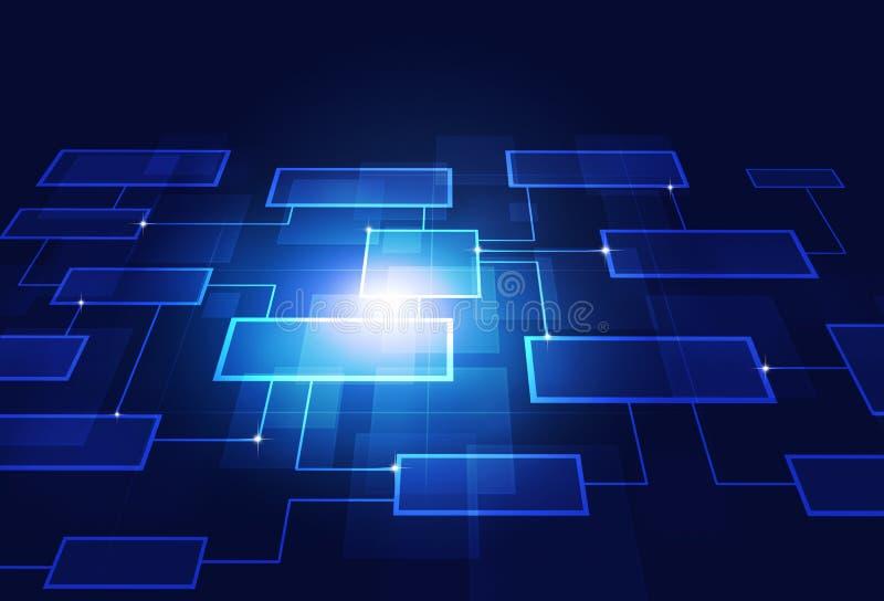 企业概念流程图 皇族释放例证