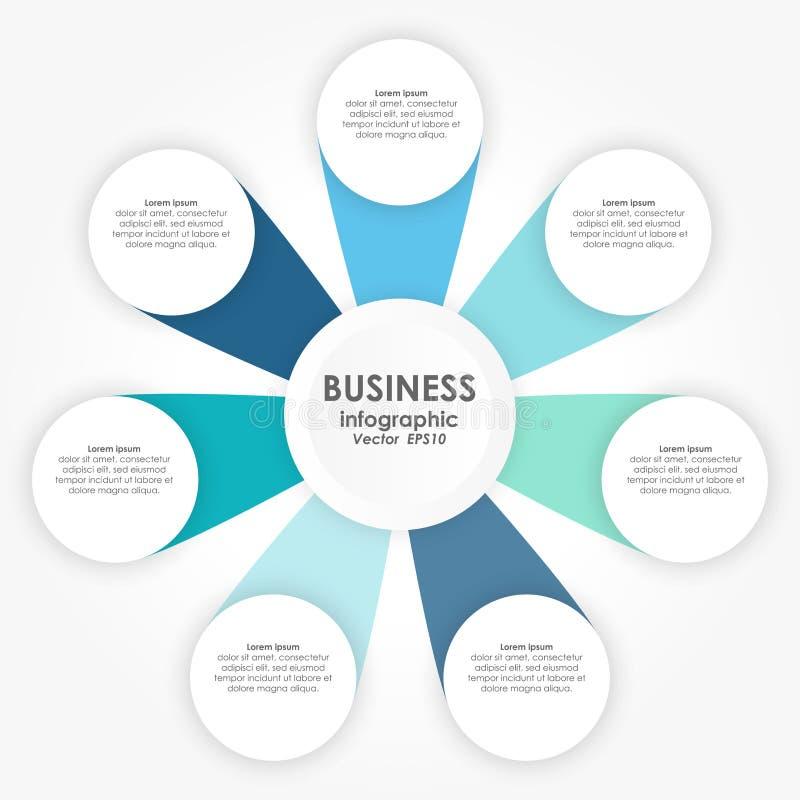 企业概念的信息图表 库存例证