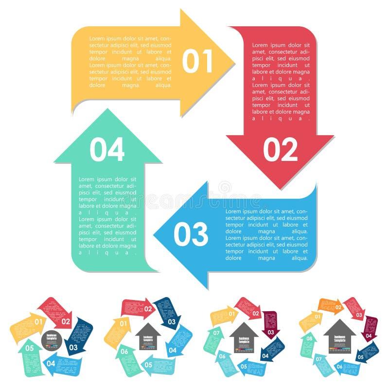 企业概念的信息图表 向量例证