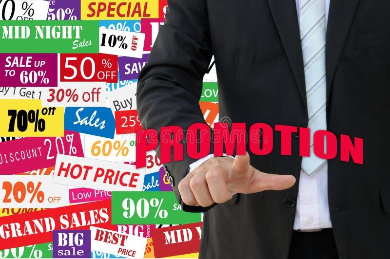 企业概念的营销促进 库存照片
