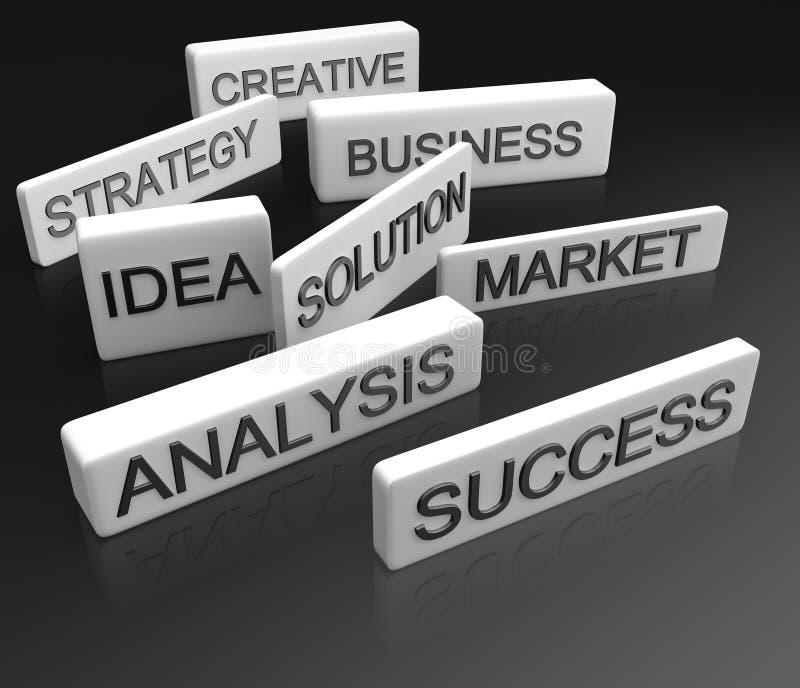 企业概念目的 库存例证