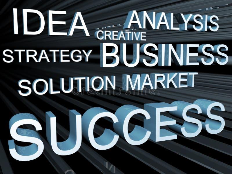 企业概念目的 向量例证