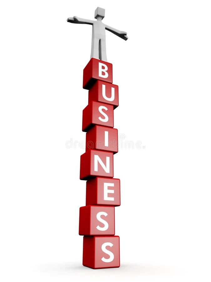 企业概念稳定成功 库存例证