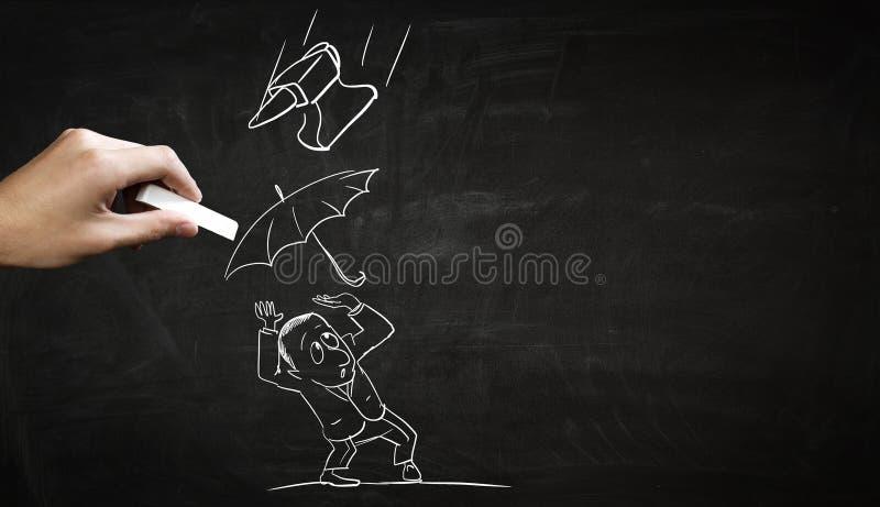企业概念粉笔画 免版税库存图片