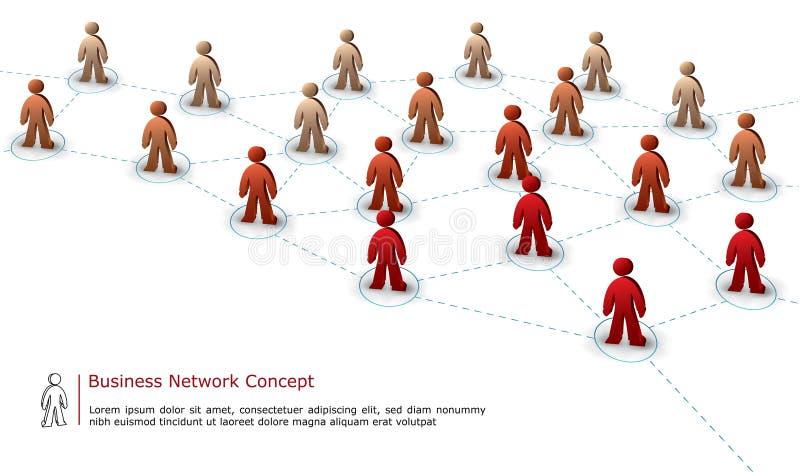 企业概念网络 库存例证