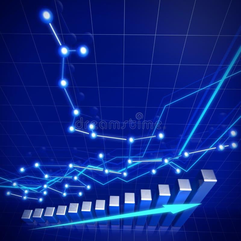 企业概念财务增长网络 库存例证