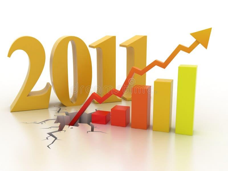 企业概念财务增长 向量例证