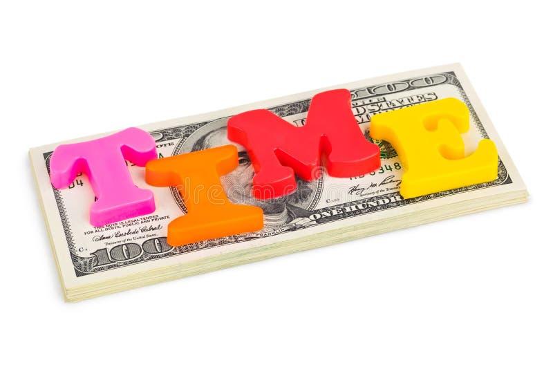 企业概念货币时间字 免版税库存图片