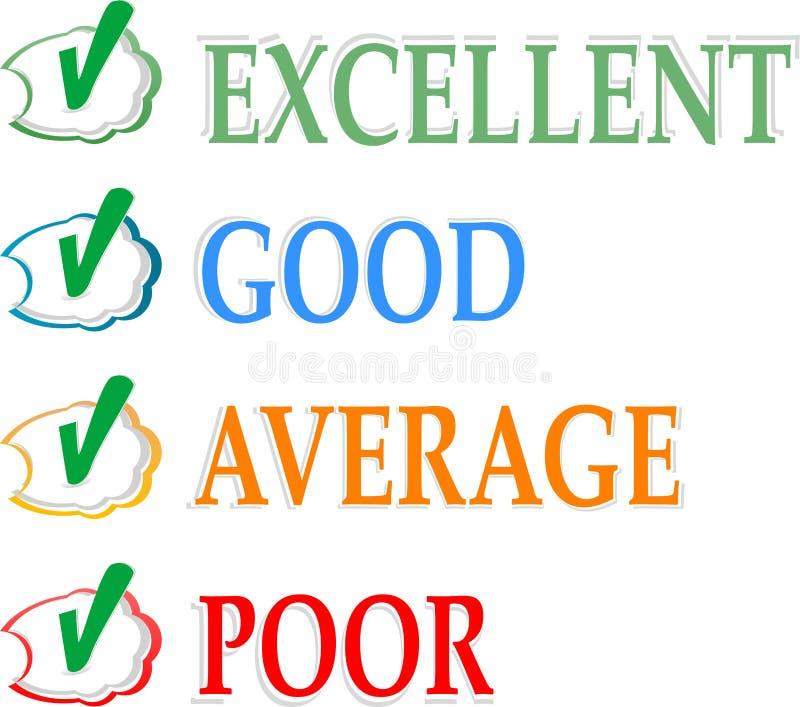 企业概念赊帐好评分 向量例证