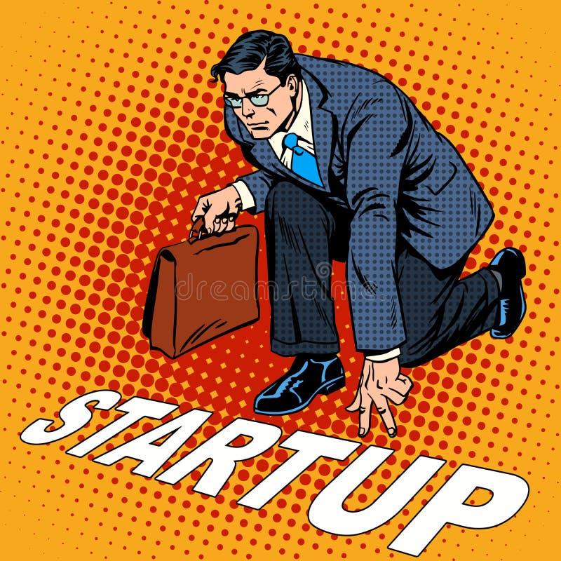 企业概念起动商人 向量例证