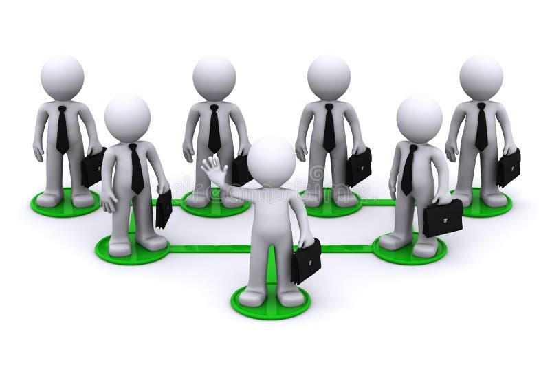 企业概念连接数网络 向量例证