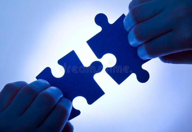 企业概念配合值 免版税库存图片