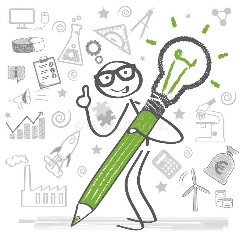企业概念,创造性 库存例证