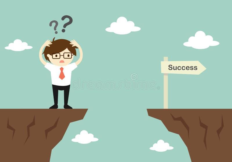 企业概念,商人怎么是混乱的关于对对另一峭壁 库存例证