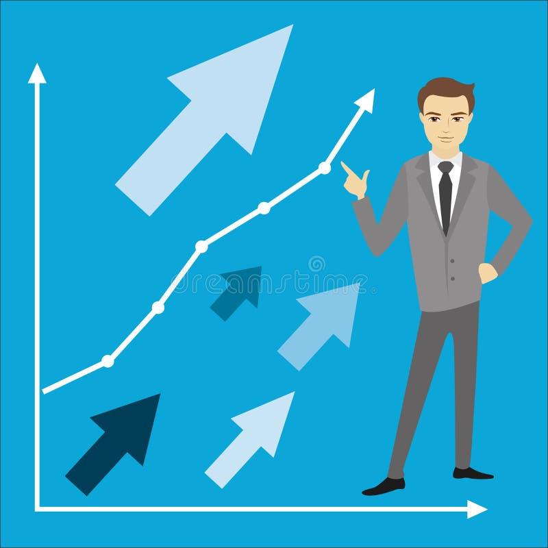 企业概念,商人, 向量例证
