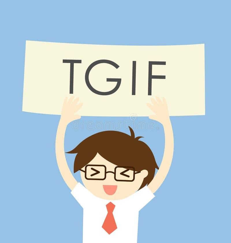 企业概念,感谢它是星期五或tgif与一个人感到的愉快的