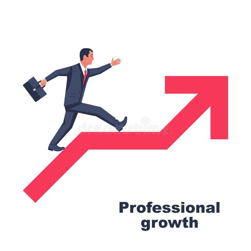 专业成长 企业概念,进展事业 向量例证