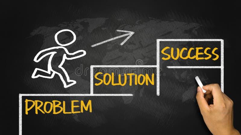企业概念:问题解答成功 免版税库存照片
