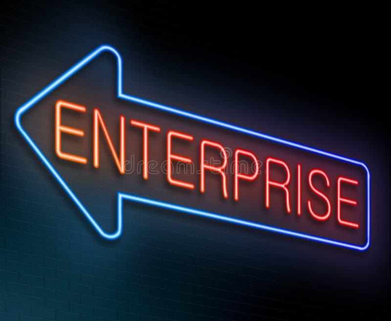 企业概念 库存例证