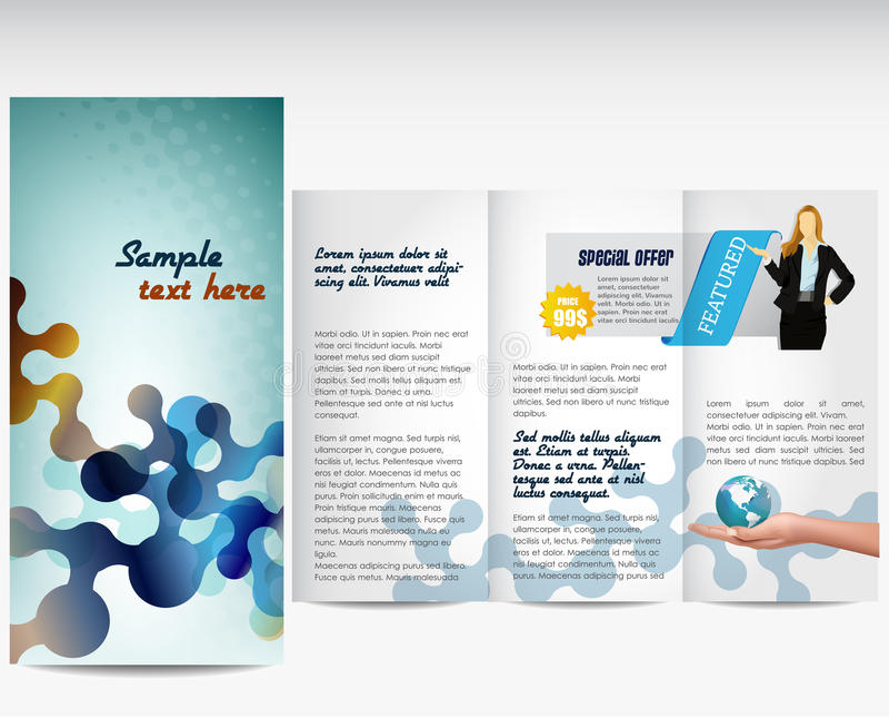 企业模板或总公司手册 向量例证
