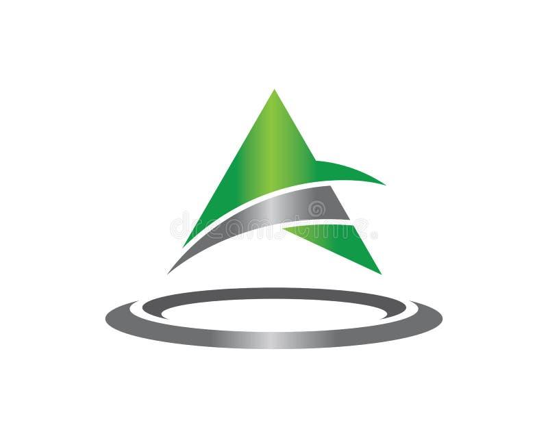 企业模板的Vecto一个信件商标三角 库存例证
